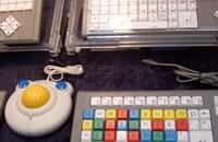 子ども用キーボードとマウス。