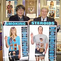 BETT会場にて喫煙の害を訴えるポスターをゲット