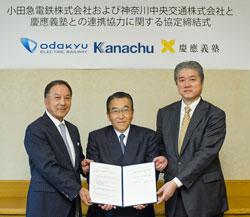 慶應義塾が小田急電鉄や神奈川中央交通と連携