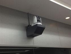 教室に設置されたカメラ