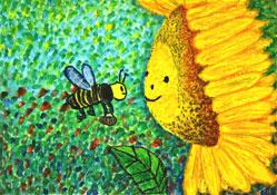 第5回で子どもの部(1―3年生)大賞を受賞した小泉詩絵さんの作品