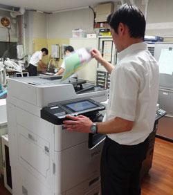 印刷環境の改善により細かい作業が激減、予想以上の効果があった