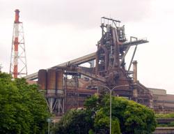 JFEスチール東日本製鉄所(千葉地区)の溶鉱炉