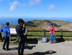 有珠山山頂の展望台