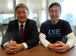 左から清水久裕氏(アドビ)と佐藤昌宏教授(デジタルハリウッド大学)