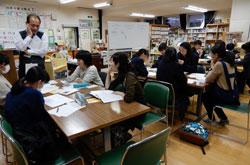 11月29日に開催されたティーンズ委員会で「大賞」の本が決定した。この日の会場は小平第一中学校の図書館