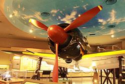 鹿屋航空基地史料館に展示されている「零式艦上戦闘機五二型」