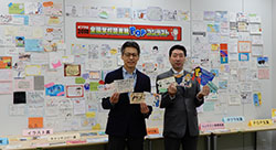 「POP王」こと三省堂書店・内田剛氏(右)とポプラ社・長谷川均社長