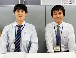 千葉市教育委員会の大須賀課長補佐(左)と大友主査