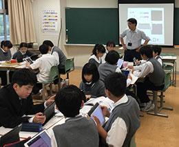 全教室の提示環境と1人1台のiPad、円滑なネットワークで授業進行が変わった