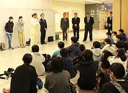 東北方面への出発式(上野駅)