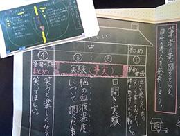 板書を撮影してダイレクトプリントで印刷(静岡市立長田西小学校)