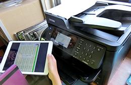 iPadからダイレクトに印刷(京都教育大学附属桃山小学校)