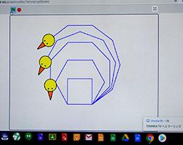 「まちごピヨ」が複数の正多角形を同時に描画することに成功