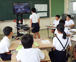 複式学級と単式学級で遠隔交流