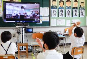 ○×クイズで学校紹介