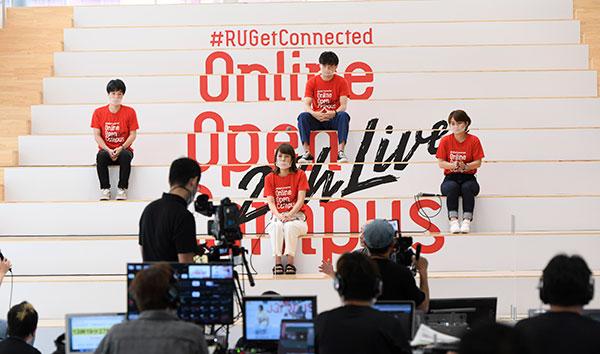 27時間連続オンライン放送オープンキャンパス「Ryukoku 27hours Live」の配信の様子