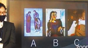 3枚の絵の制作順を考えた