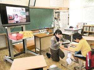 小学2年生が1対1のオンライン学習で やり取りしている
