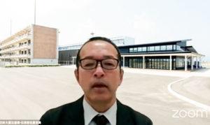 中継された気仙沼の伝承館・佐藤館長