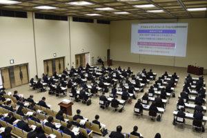 4月末、副校長や教頭、校内研修推進リーダーを中心に研修会を開催